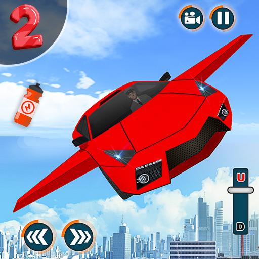 Flying Car Shooting Game: Modern Car Games 2020