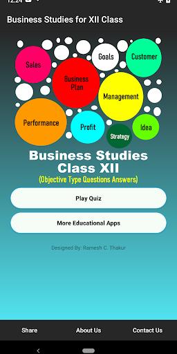 Business Studies XII Class MCQs  screenshots 1