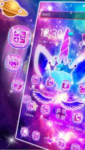 Shiny Galaxy Cute Unicorn Theme 1.1.4 APK + MOD Download 3