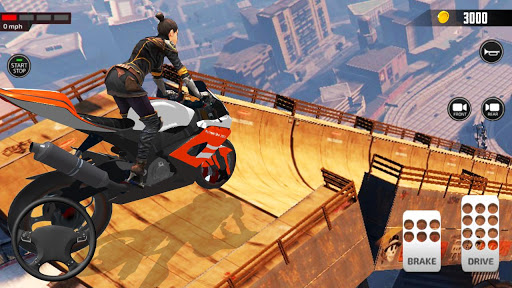 Impossible Mega Ramp Moto Bike Rider Stunts Racing  screenshots 1