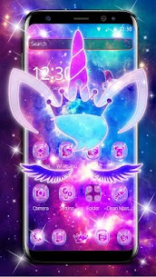Shiny Galaxy Cute Unicorn Theme 1.1.4 APK + MOD Download 1