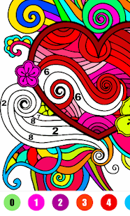 Valentine Love Color By Number - Paint By Number