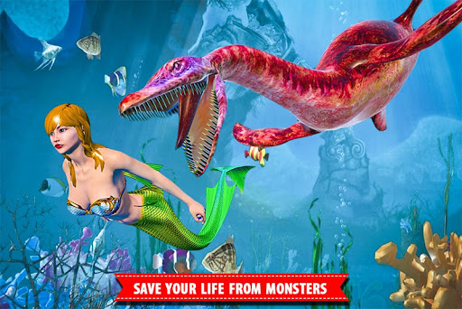 Mermaid Simulator Games: Sea & Beach Adventure android2mod screenshots 10