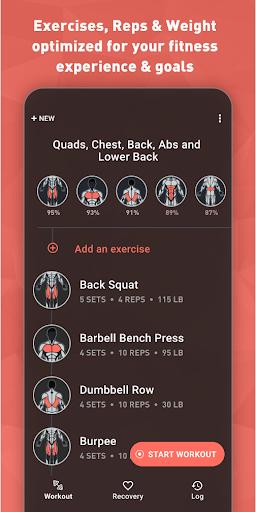 Fitbod Workout & Fitness Plans 2.0.3 Screenshots 1