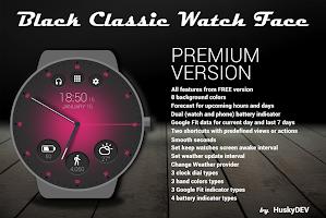 Black Classic Watch Face