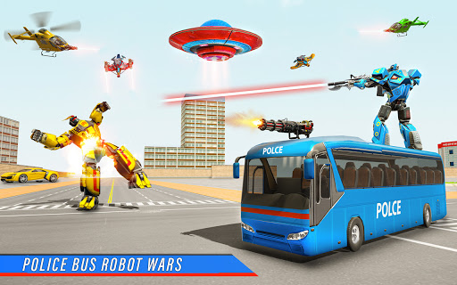 Bus Robot Car War - Robot Game  screenshots 2