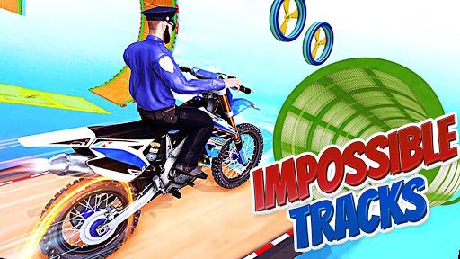 Police Bike Stunt Games : 3D Mega Ramp Stunts Game  screenshots 9