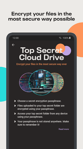 Degoo: 100 GB Cloud Storage Apkfinish screenshots 2
