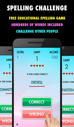 Spelling Challenge - Free 23 screenshots 1