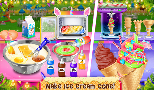 Ice Cream - Frozen Desserts Rainbow Unicorn  screenshots 7