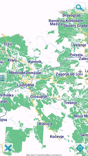 Map of Slovenia offline