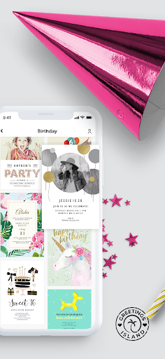 Invitation maker & Card design by Greetings Island android2mod screenshots 3