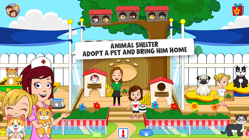 My Town : Pets, Animal game for kids android2mod screenshots 9