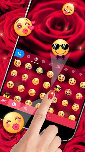 rose love keyboard theme screenshot 3