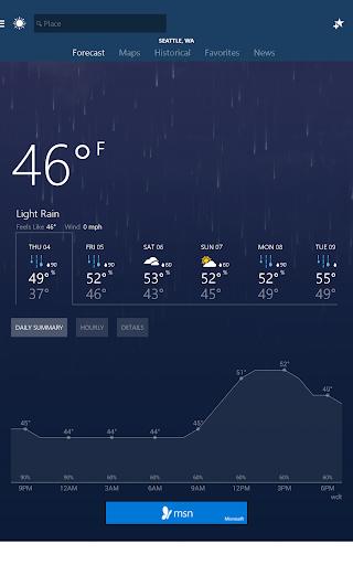 MSN Weather - Forecast & Maps 1.2.0 Screenshots 5