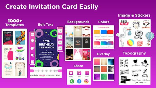 Invitation Maker Free – Birthday  Wedding Card Apk 2