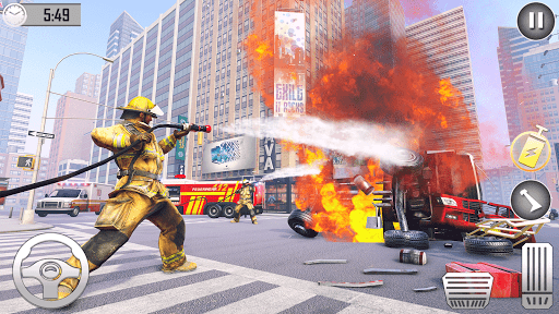 Firefighter Games : fire truck games  screenshots 11