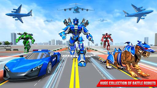US Police Tiger Robot Car Game screenshots 10