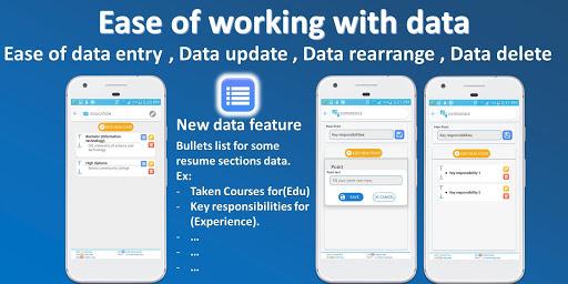 Resume builder Pro  - CV maker Pro Multi-Language 4.6 Screenshots 4