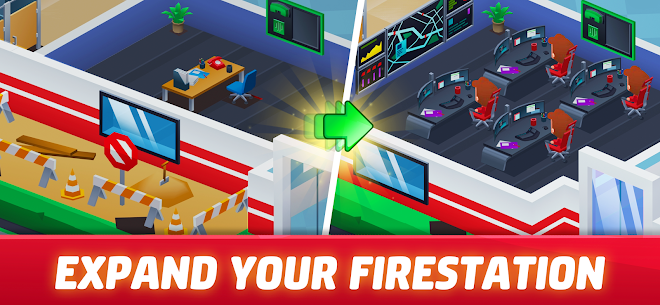 Idle Firefighter Tycoon Mod Apk- Fire Emergency Manager (Unlimited Money) 2