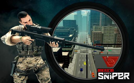 Code Triche American City Sniper Shooter - Jeu de tir gratuit  APK MOD (Astuce) screenshots 1
