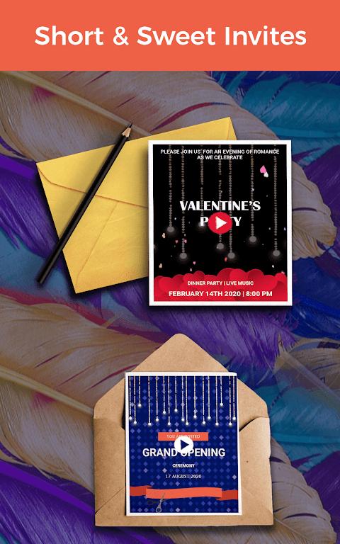 Video Invitation Maker - Create eCards  poster 9