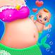 マーメイドママ&新生児 - ベビーシッターゲーム