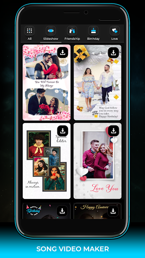 Song Video Maker - Photo Video Maker android2mod screenshots 4