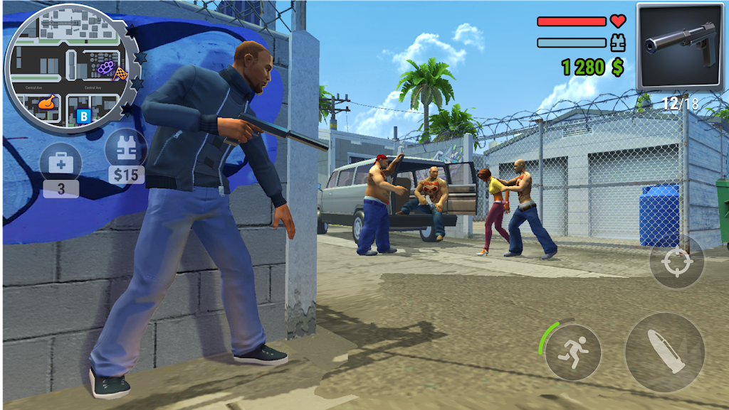GTS. Gangs Town Story. Action open poster 2