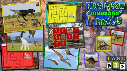 kids dinosaur puzzles screenshot 1