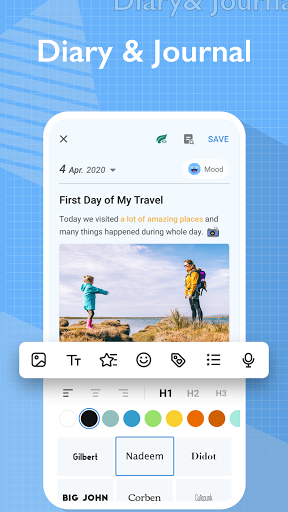My Diary - Journal, Diary, Daily Journal with Lock android2mod screenshots 1