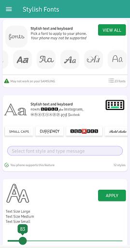 Stylish Fonts for FlipFont with Font Resizer  screenshots 1