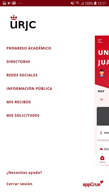 Captura de Pantalla 6 de URJC App Univ. Rey Juan Carlos para android