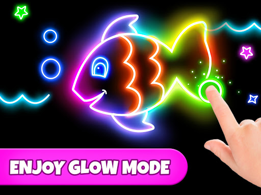 Coloring Games: Coloring Book, Painting, Glow Draw  screenshots 9