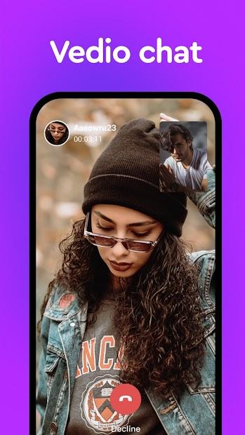 VCall - Live video chat & Make friend screenshot 1