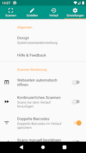 QR & Barcode Scanner (Deutsch) Screenshot