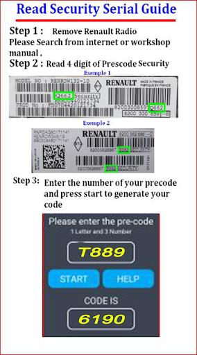 Radio code generator for Renault and Dacia 6.0 Screenshots 4