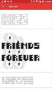 Ascii Art Generator - Cool Symbol -Emoji - Letters