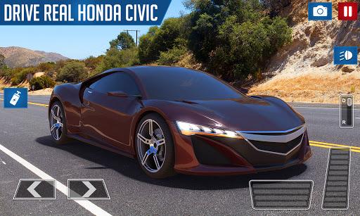 Drifting and Driving Simulator: Honda Civic Game 2 modiapk screenshots 1