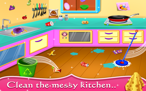 My Baby Doll House - Tea Party & Cleaning Game screenshots 2