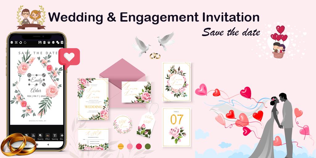 Invitation maker 2020 Birthday & Wedding card Free  poster 3