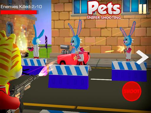 Shooting Pets Sniper - 3D Pixel Gun games for Kids screenshots 8