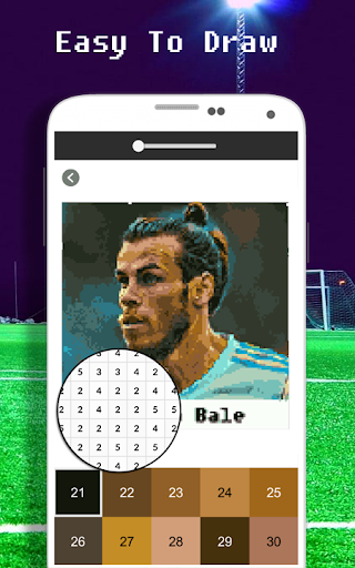 Football Player Coloring By Number - Pixel apkdebit screenshots 6