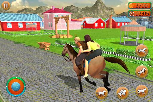 Offroad Horse Taxi Driver – Passenger Transport apktreat screenshots 1