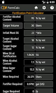 FermCalc Winemaking Calculator