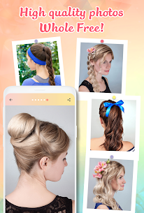 Hairstyle Apk app Hairstyles step by step for girls for Android 4