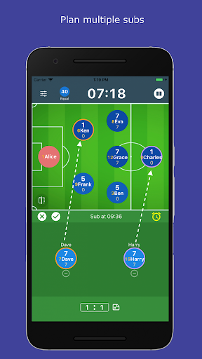 subtime: playing time and sub tracking for coaches screenshot 2