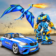 US Police Transform Robot Car Fire Dragon Fight