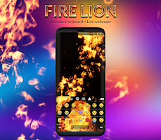 Fire Lion Animated Keyboard + Live Wallpaper