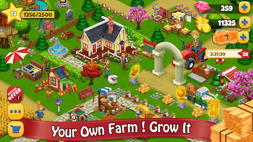 Farm Day Village Farming: Offline Games modiapk screenshots 1